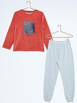 Pyjama, peignoir - Pyjama long en velours