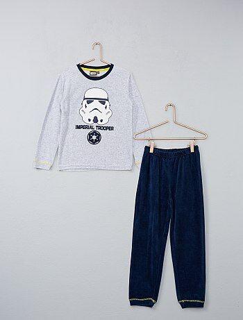 Pyjama long en velours 'Star Wars' - Kiabi