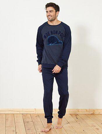 Pyjama long épais - Kiabi