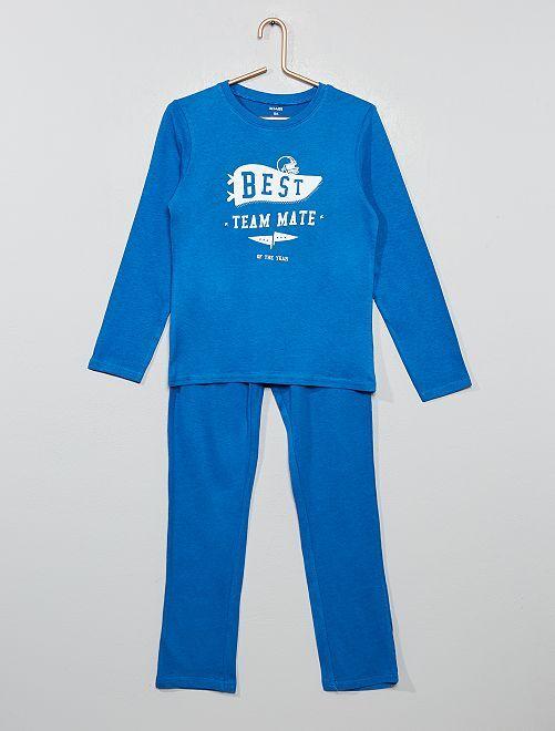 Pyjama long fantaisie                                                                                         bleu