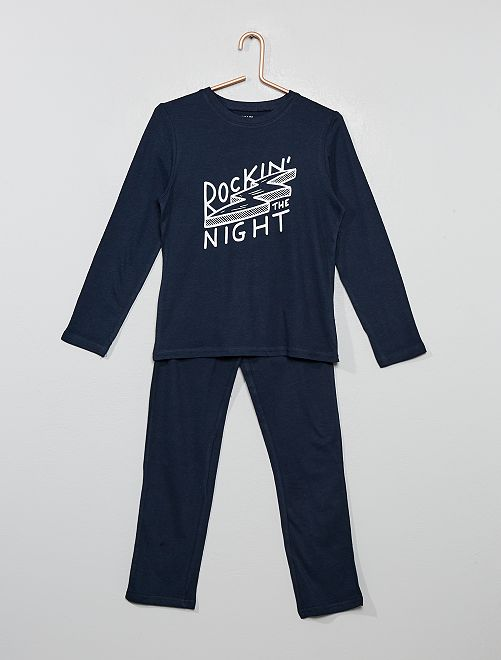 Pyjama long fantaisie                                                                                         marine