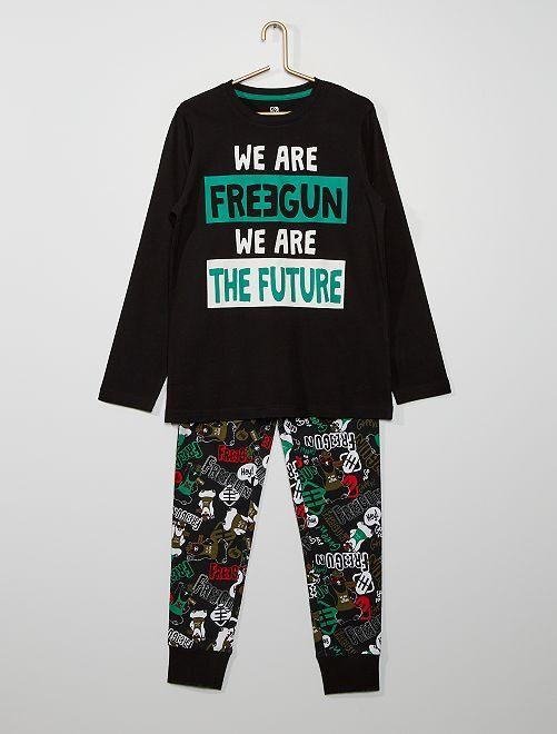 Pyjama long 'Freegun'                             noir