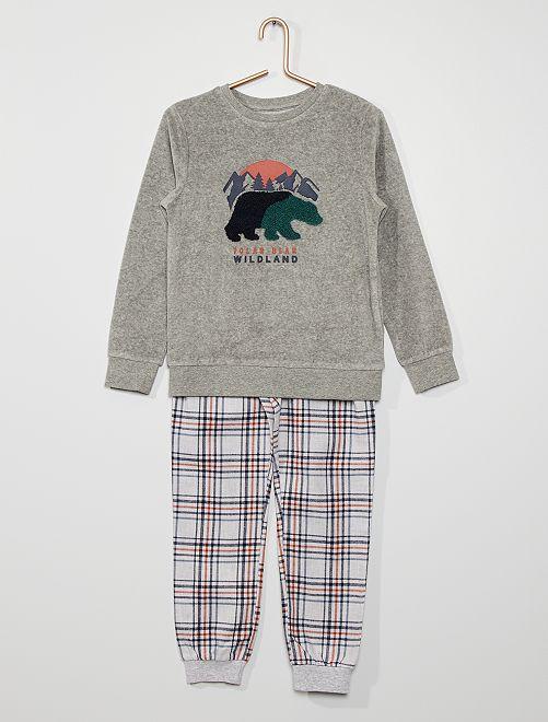Pyjama long                                         gris