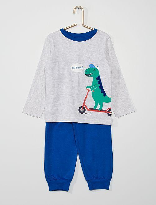 Pyjama long                                         gris/bleu