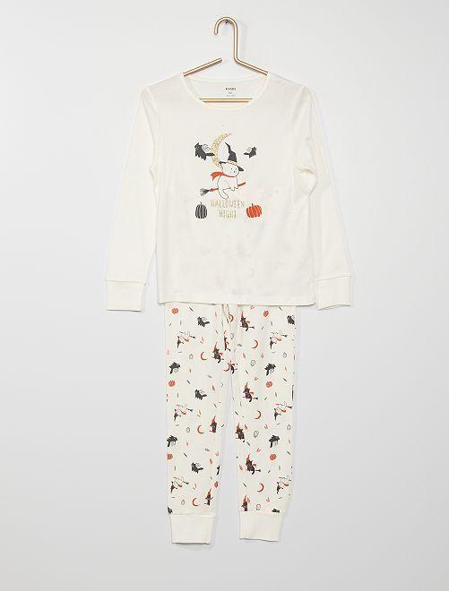 Pyjama long 'Halloween'                                         blanc