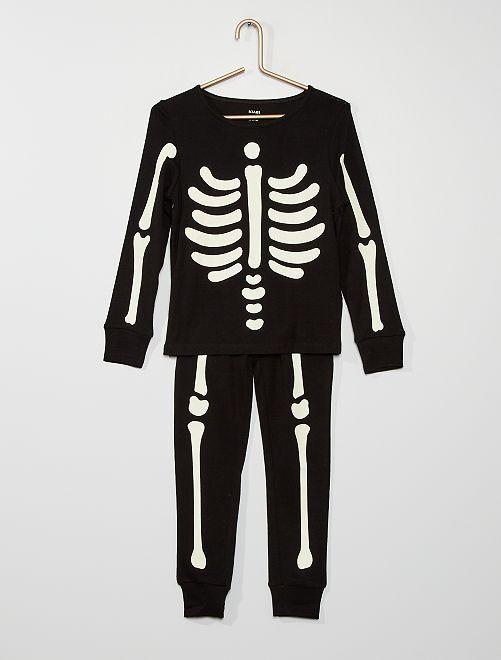 Pyjama long 'Halloween'                                         noir