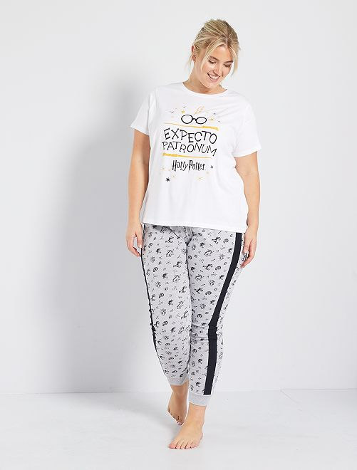 Pyjama long 'Harry Potter'                             blanc