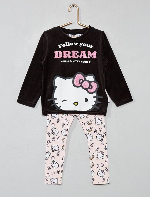 Pyjama long 'Hello Kitty'                             ROSE Fille