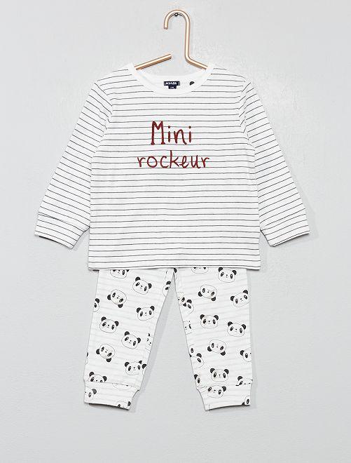 Pyjama long imprimé                             BLANC Bébé garçon