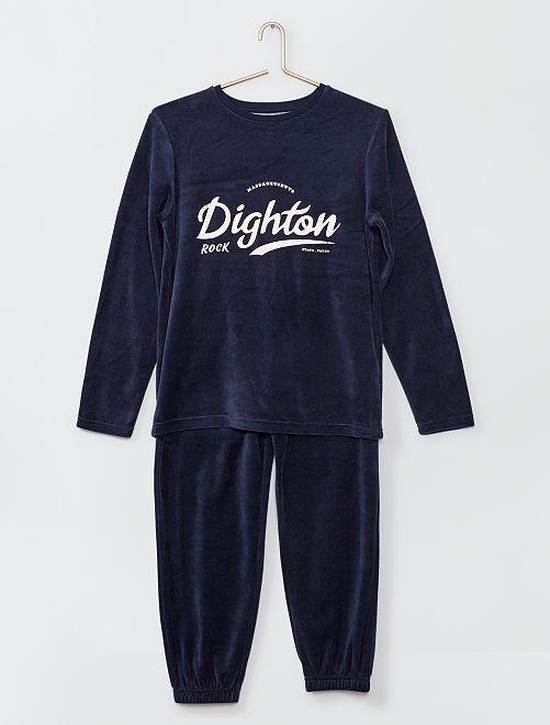 Pyjama long imprimé                             bleu