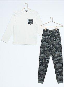 Pyjama, peignoir - Pyjama long imprimé camouflage