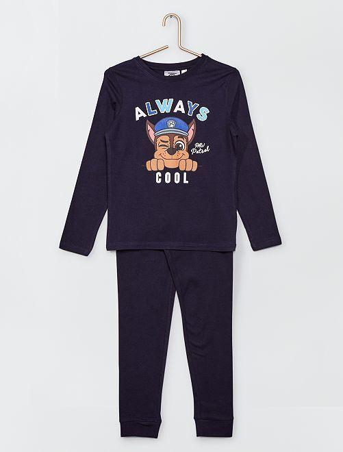 Pyjama long imprimé 'Chase' de la 'Pat 'Patrouille                             bleu marine