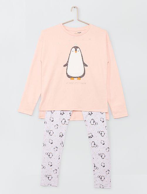 Pyjama long imprimé                     GRIS
