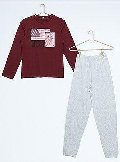 Pyjama long imprimé 'New-York'