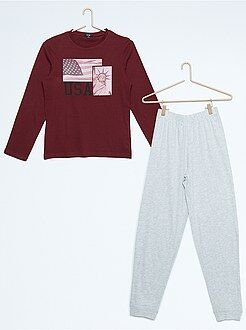 Garçon 10-18 ans Pyjama long imprimé 'New-York'