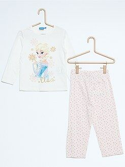 Fille 3-12 ans Pyjama long imprimé 'Reine des Neiges'