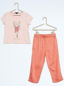 Fille 3-12 ans Pyjama long imprimé