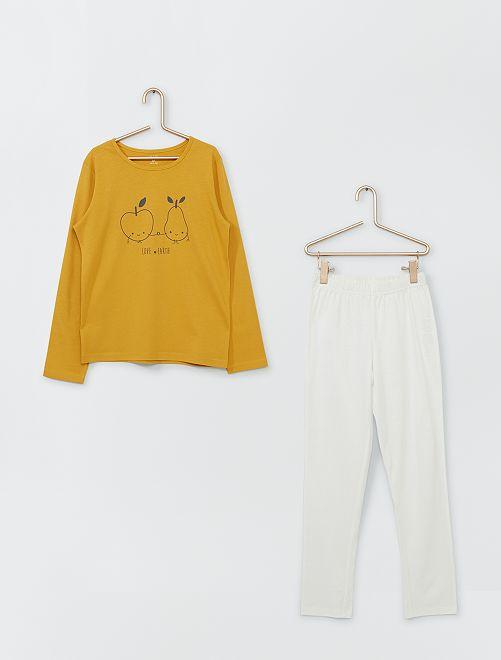 Pyjama long                                                                                         jaune