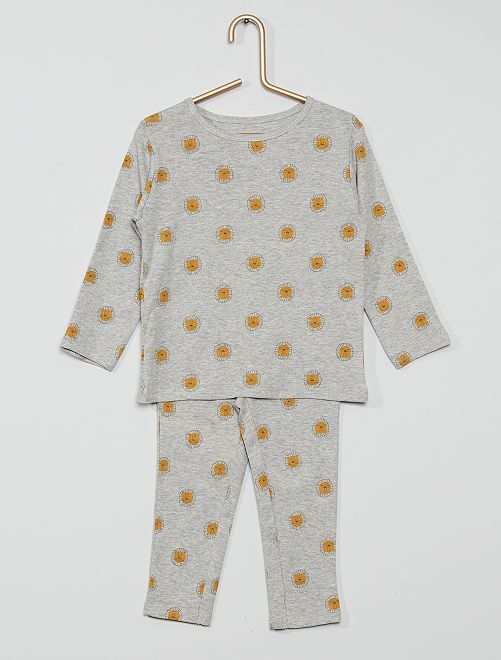 Pyjama long jersey                                                     gris
