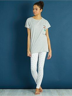 Lingerie du S au XXL - Pyjama long 'La Petite Sirène' - Kiabi