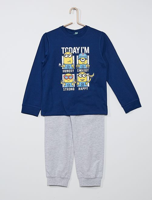 Pyjama long 'Les Minions'                             bleu marine