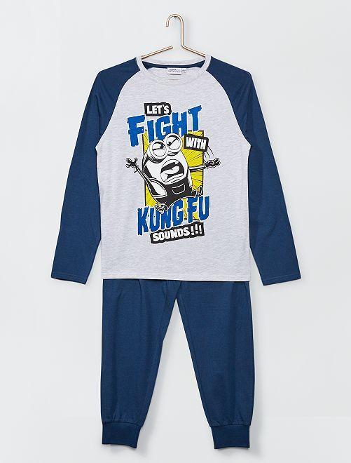 Pyjama long 'Les Minions'                             gris/bleu
