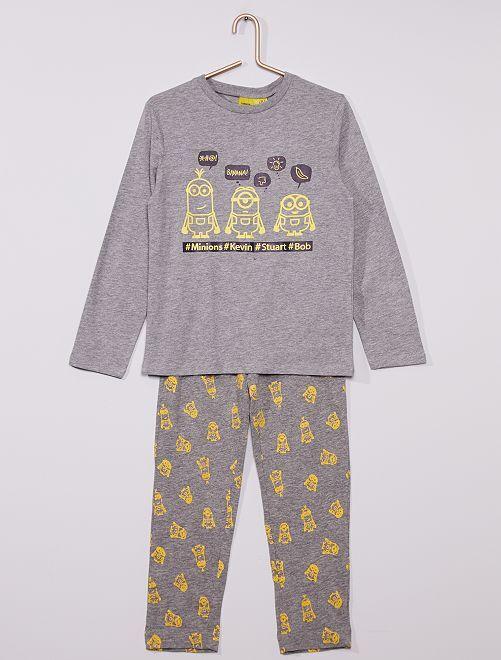 Pyjama long 'Les Minions' phosphorescent                                         gris