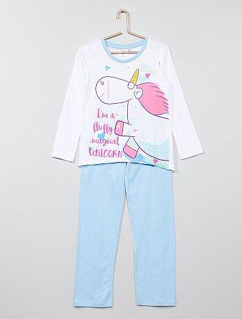Pyjama Peignoir Fille Beige Kiabi