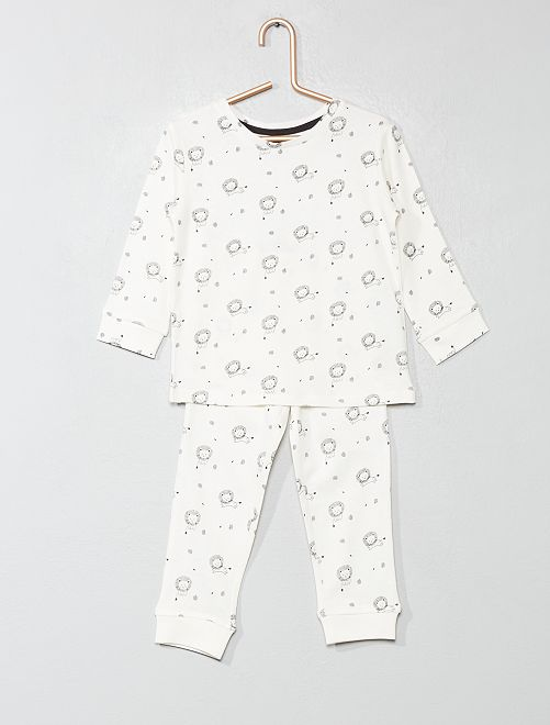 Pyjama long 'lion'                             blanc Bébé garçon