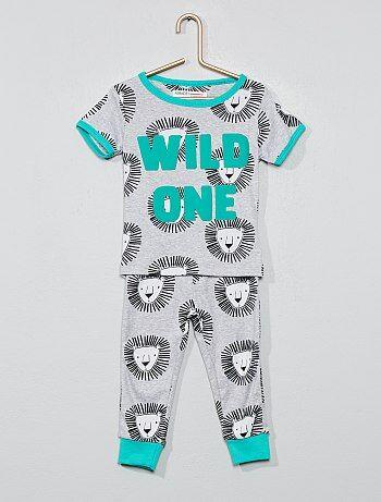 c9992be7aaaff Garçon 0-36 mois - Pyjama long  lion  - Kiabi
