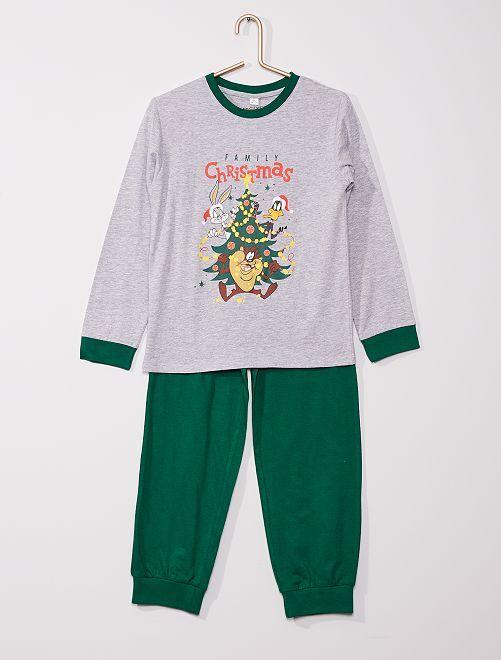 Pyjama long 'Looney Tunes'                             gris/vert