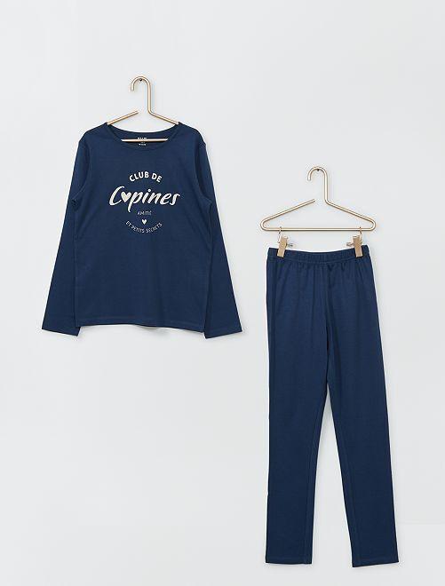 Pyjama long                                                                                         marine