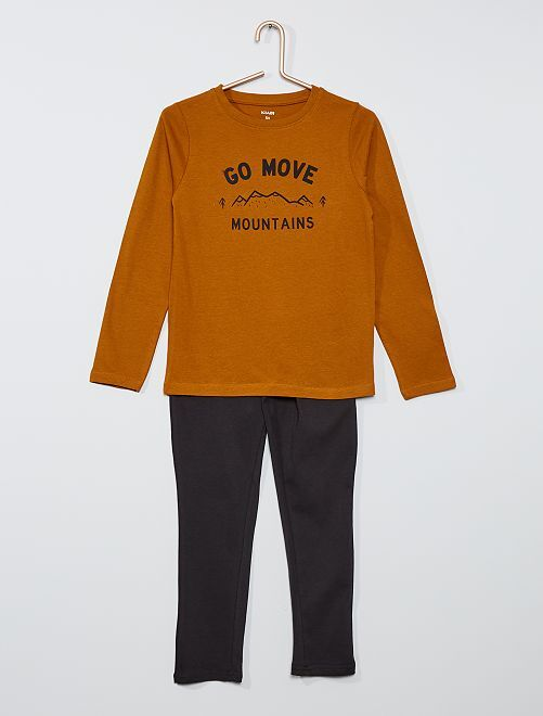Pyjama long                                                                                         marron/noir