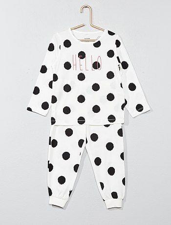 Pyjama long message 'hello' - Kiabi