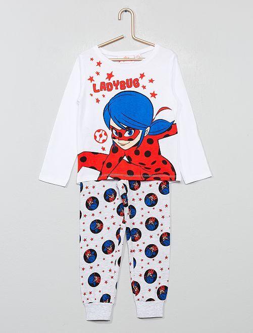 Pyjama long 'Miraculous'                             blanc/rouge Fille