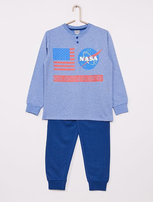 Pyjama long 'Nasa'                     bleu