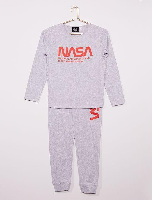 Pyjama long 'NASA'                             gris