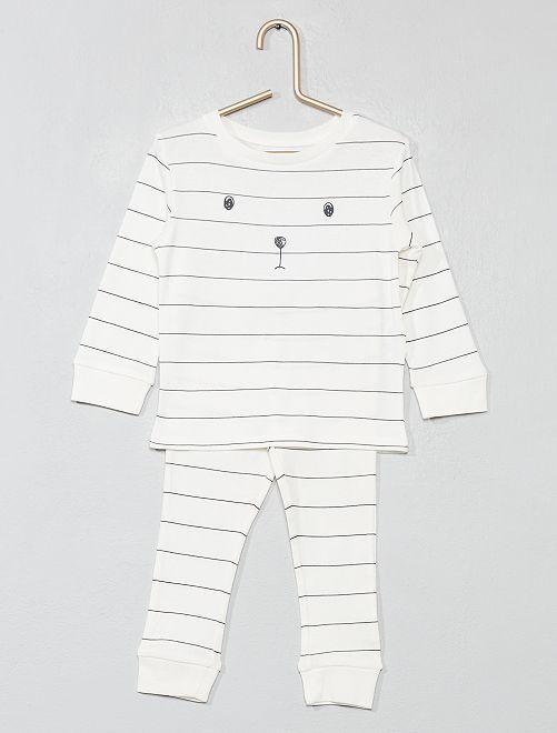 Pyjama long 'ours'                                         écru/ours Bébé garçon