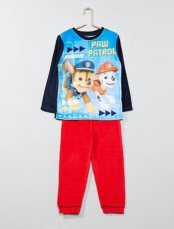 Pyjama long 'Pat'Patrouille' en velours - Kiabi