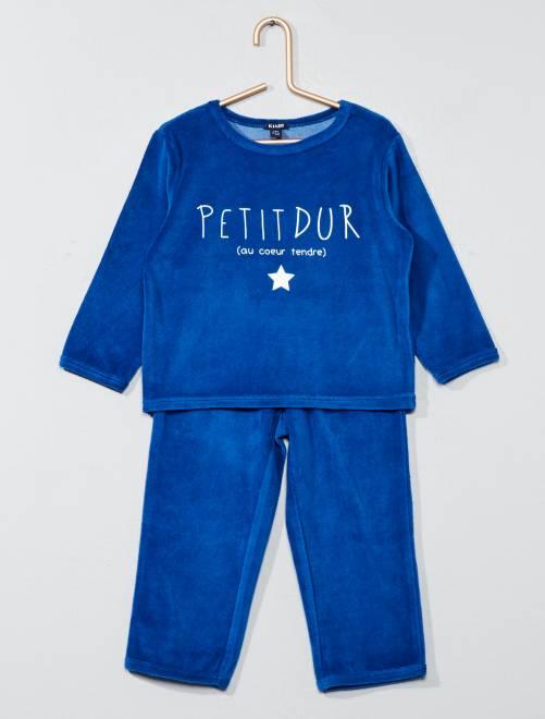 Pyjama long 'Petit dur'                             bleu foncé Bébé garçon