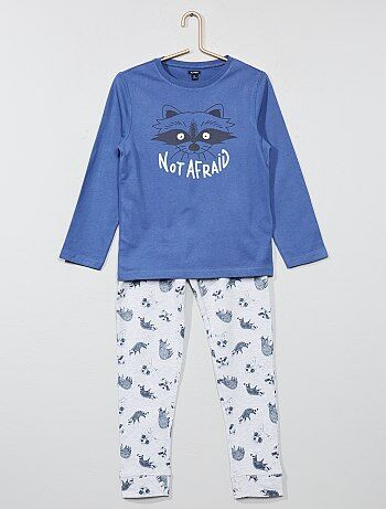 Pyjama long 'Raton Laveur' phosphorescent - Kiabi