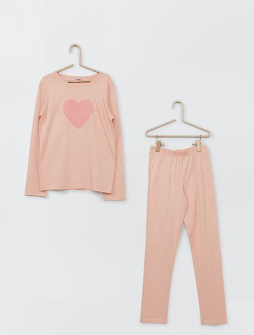 Pyjama long                                                                                         rose clair