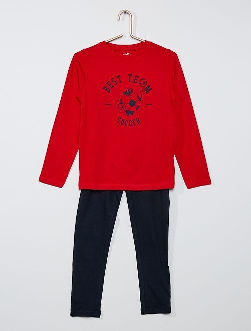 Pyjama long                                                                                         rouge/marine