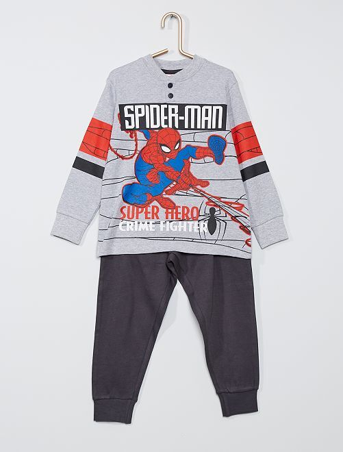 Pyjama long 'Spider-Man'                                         gris