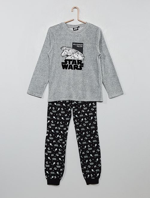 Pyjama long 'Star Wars'                             gris/noir