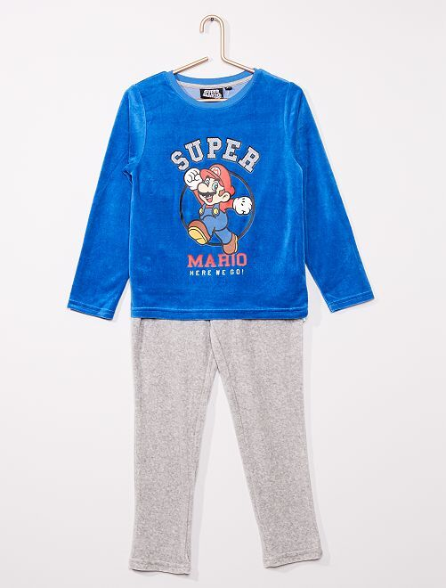 Pyjama long 'Super Mario'                             bleu/gris
