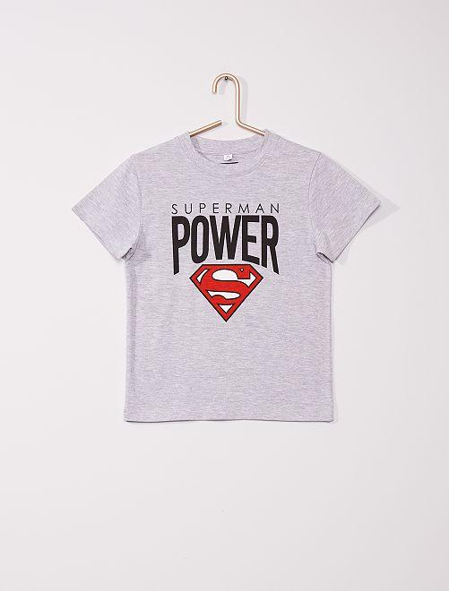 Pyjama long 'Superman'                             gris/noir