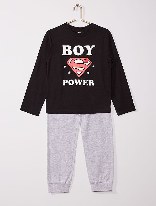 Pyjama long 'Superman'                             noir/gris