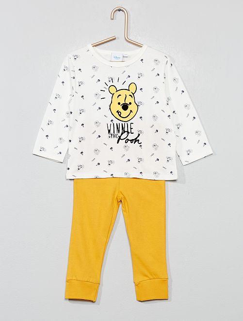 Pyjama long 'Winnie'                                                     écru/jaune