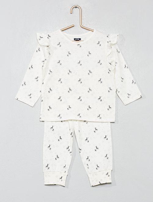 Pyjama long 'zèbre'                                         écru